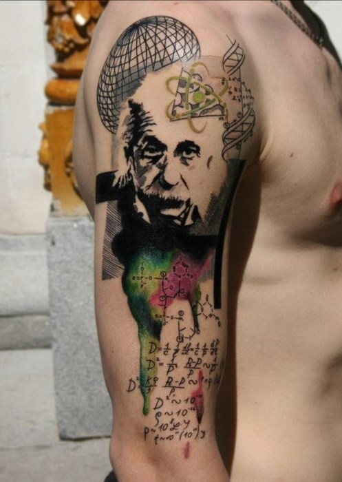 awesome tattoos science albert einstein funny - 8090528512