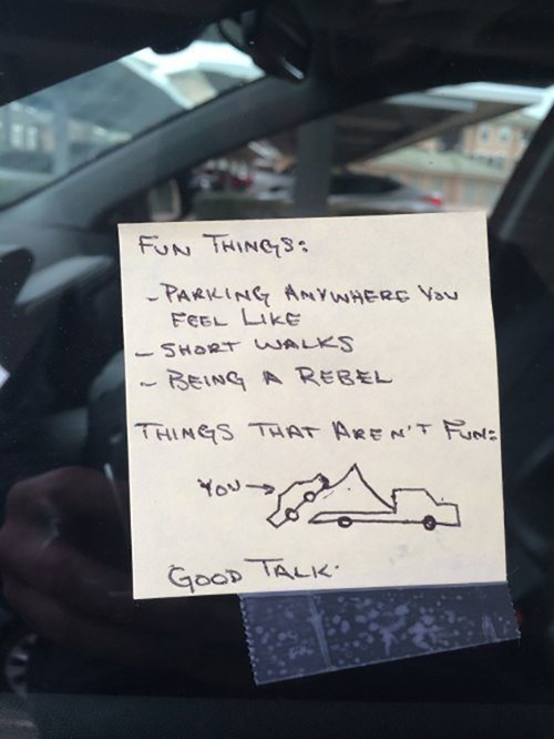 towing cars parking like a douche parking - 8090537216