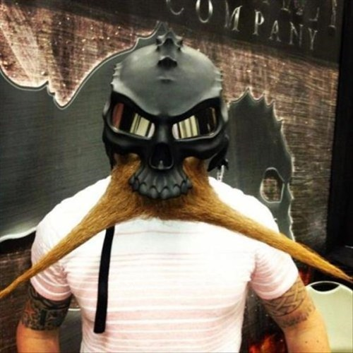 facial hair poorly dressed helmet mask - 8090588416