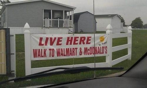 McDonald's real estate Walmart - 8090662912