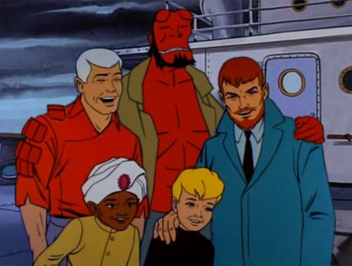 Jonny Quest,Fan Art,hellboy