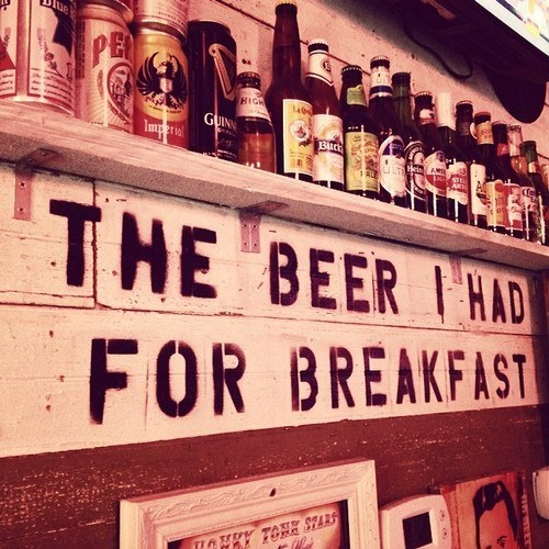 beer sign breakfast funny - 8090767360
