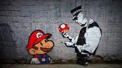 grafitti mario - 8090873344