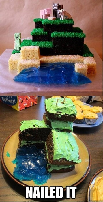 expectation vs. reality IRL Close Enough minecraft Nailed It