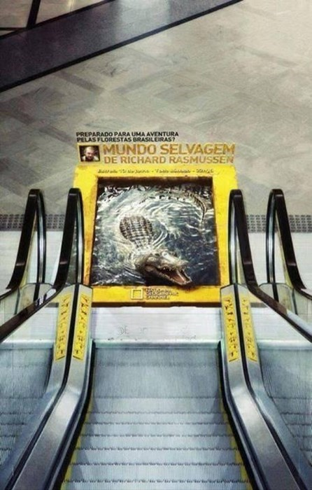 advertisement escalator temporarily stairs perspective g rated win - 8090880256