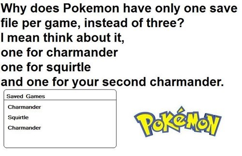 Pokémon just kidding charmander get over it bulbalosers