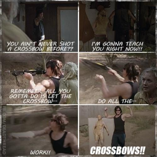 daryl dixon,norman reedus,crossbow