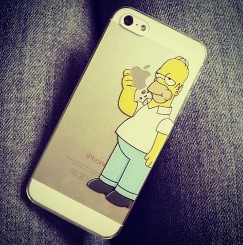 homer simpson,apple,iphone