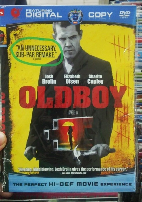 DVD oldboy knockoff fail nation