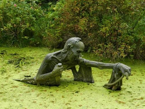 art,statue,swamp