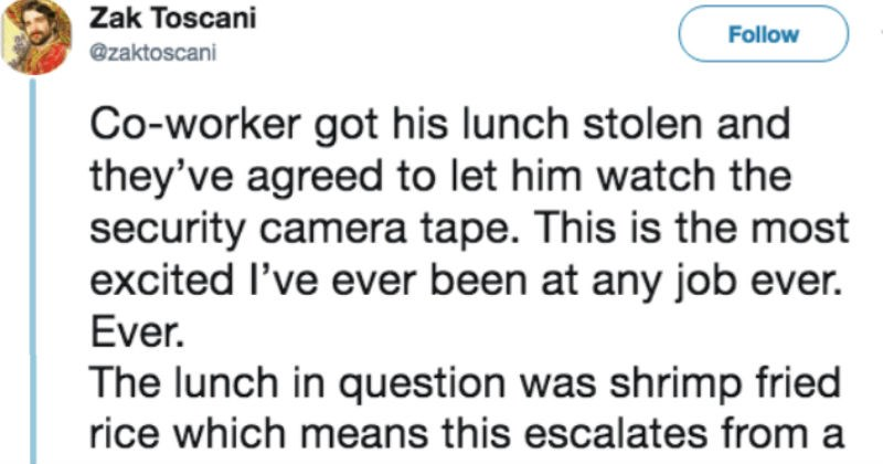 stolen office lunch