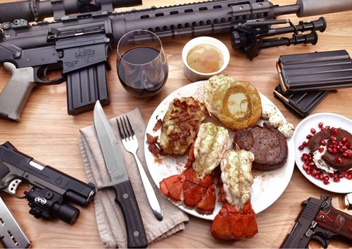 guns,breakfast,food