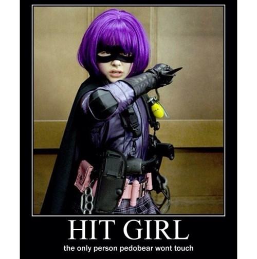 pedobear,hit girl,funny