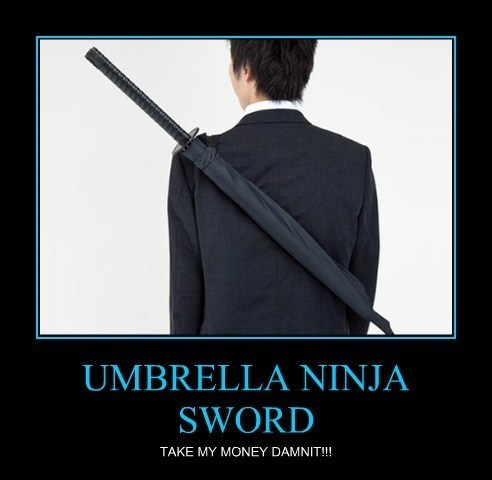 umbrella ninja awesome weather - 8091920128