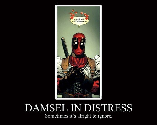 cute,deadpool,funny,damsel