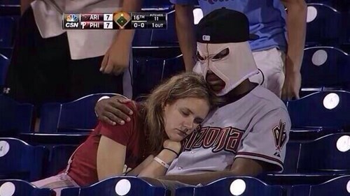 baseball,mask,poorly dressed,g rated