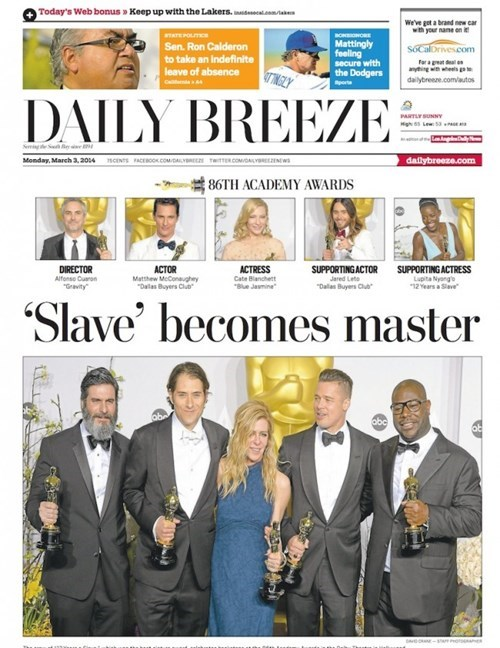 bad idea accidental racism headline oscars SMH