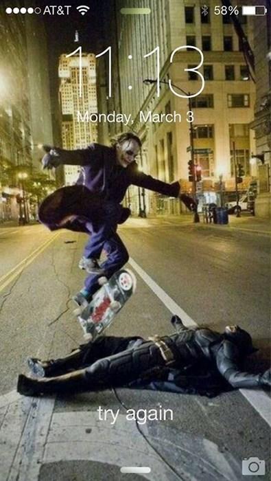 batman skateboarding the joker - 8092087296