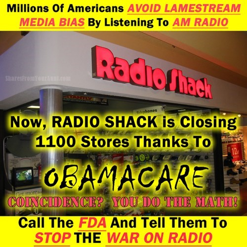 obama radio shack radios thanks obama - 8092087808