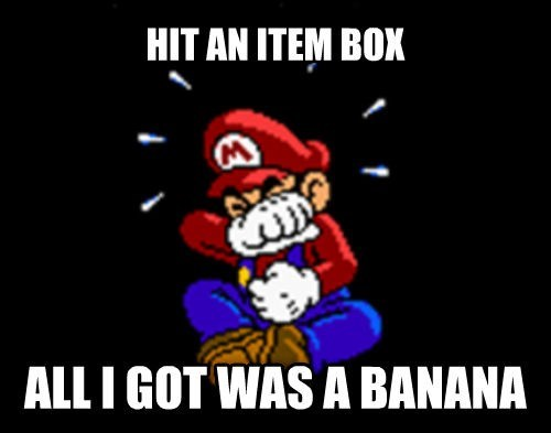 first place Mario Kart Sad also gets hit by blue shell - 8092143360