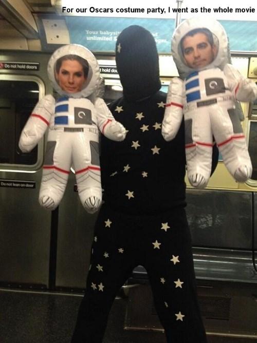 costume Gravity Sandra Bullock oscars george clooney - 8092307712