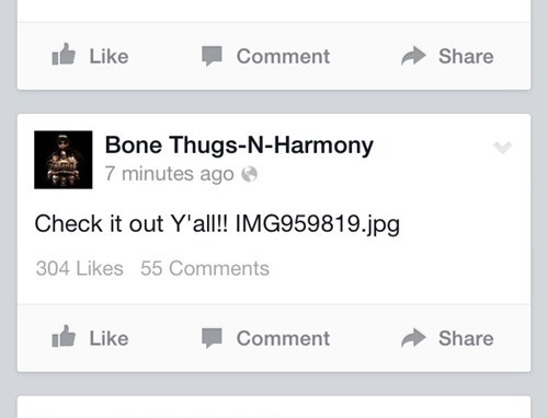 Music facepalm facebook bone thugs-n-harmony - 8092412416
