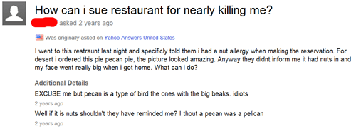 allergies facepalm restaurant nuts failbook g rated - 8092418048