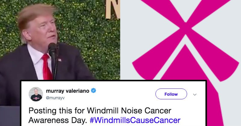 president trumps claim that windmills cause cancer