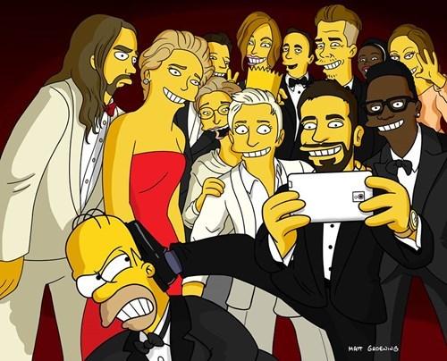 selfie TV the simpsons ellen degeneres funny oscars