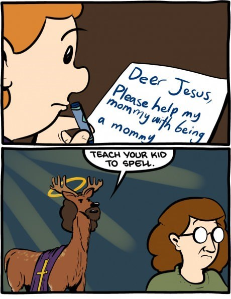 jesus,puns,deer,web comics
