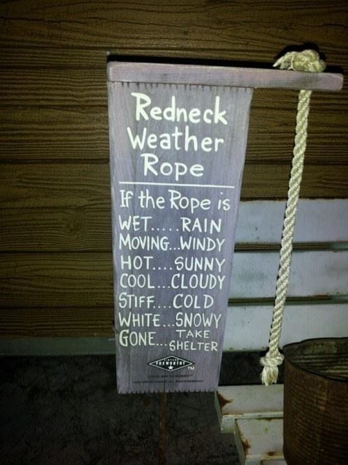 weather redneck weather rope redneck ingenuity - 8093159936