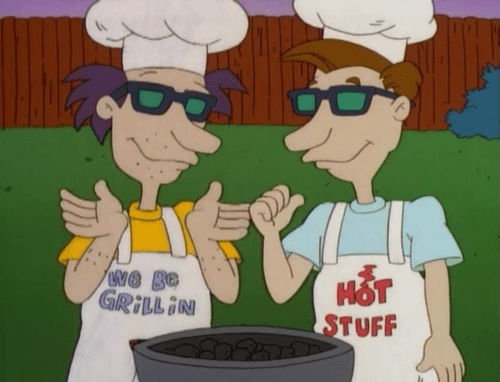 barbecue apron parenting dad rugrats