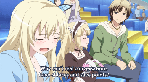 anime Haganai conversations