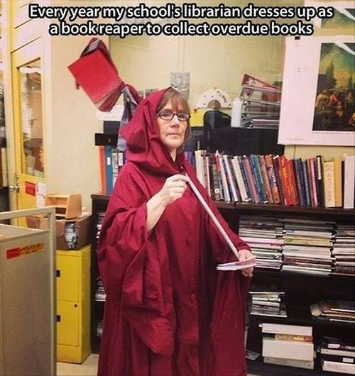 overdue books librarian funny g rated School of FAIL - 8093211648