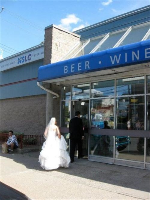 wedding,funny,liquor store