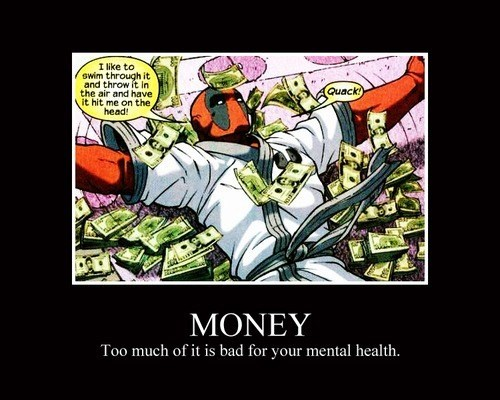 crazy deadpool funny money - 8093216256