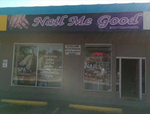 monday thru friday nails work puns business name g rated - 8093271040