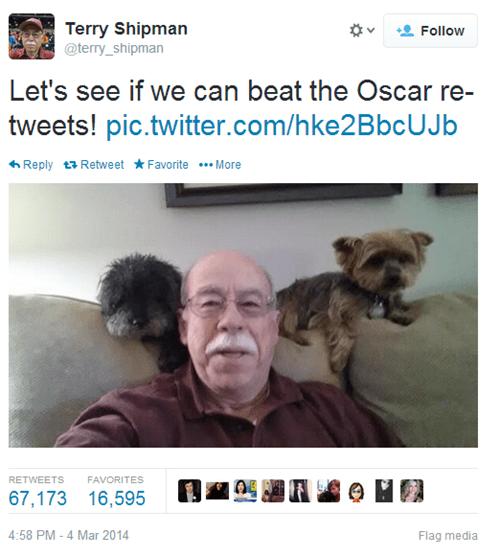 retweet,dogs,twitter,pets,ellen degeneres