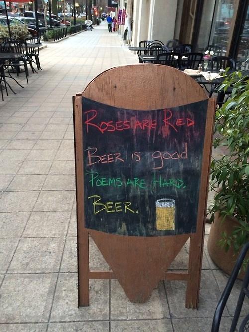 beer sign poem pub funny - 8093390592