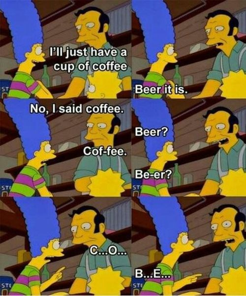beer marge simpson coffee the simpsons - 8093499136