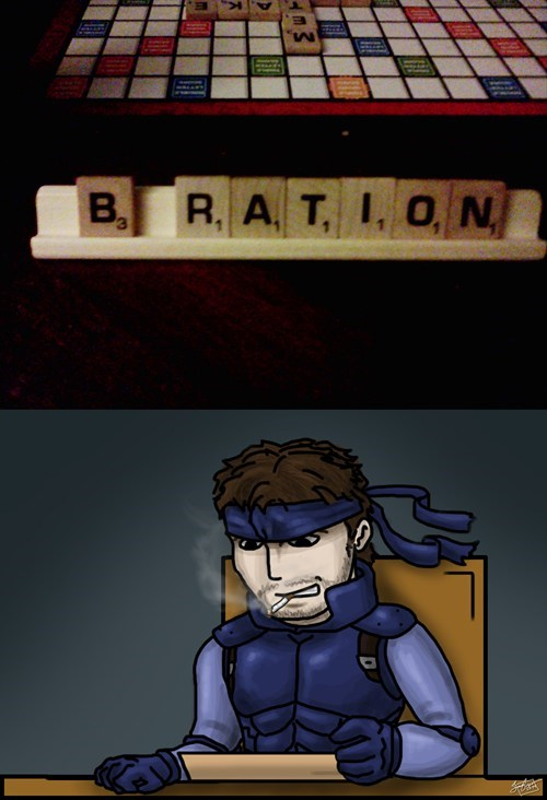 metal gear solid,solid snake,scrabble