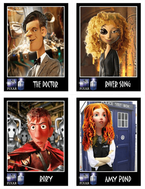 11th Doctor doctor who pixar - 8093547520