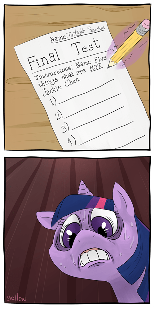 twilight sparkle test Jackie Chan