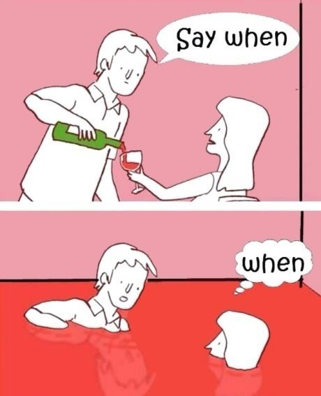 say when comics wine funny after 12