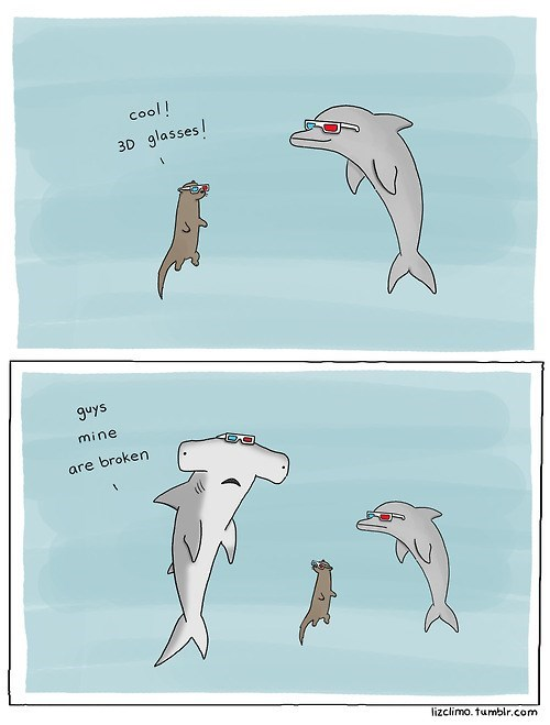 cool,3d,comics,sharks