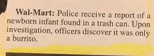 burrito police report newspaper g rated fail nation - 8093750016