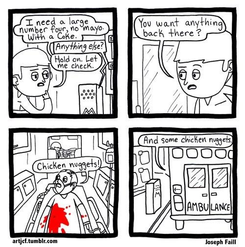 food web comics chicken nuggets - 8094616320