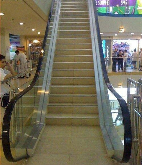 escalators,stairs