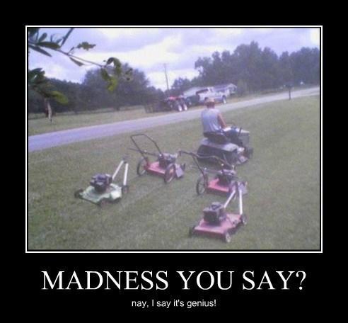 wtf lawnmower genius funny - 8094741504