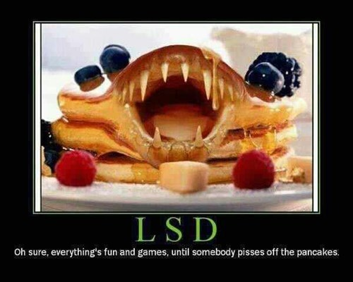 lsd,hallucinating,pancakes,funny